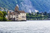 Chillon Castle At Cloudy Day