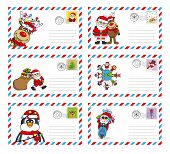 picture of letters to santa claus  - envelope to send letter to santa claus - JPG