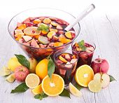 picture of sangria  - fruit sangria - JPG