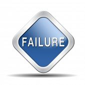 stock photo of fail job  - failure fail exam or attempt can be bad especially when failing an important job task or in your study failing an exam - JPG