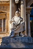 Pierre Corneille Statue (xix C.) In Front Of Opera Theatre In Avignon