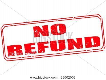 No Refund Stamp