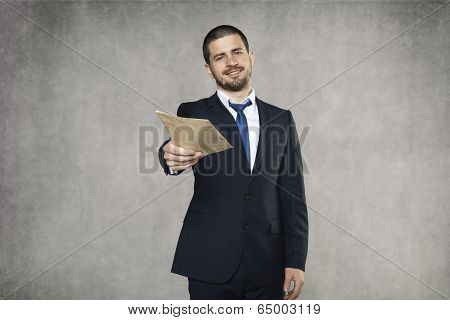 Businessman Give A Bribe