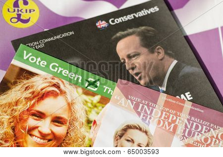 European Election Leaflets