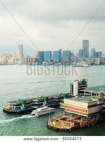 Ferry Pier In Hong Kong
