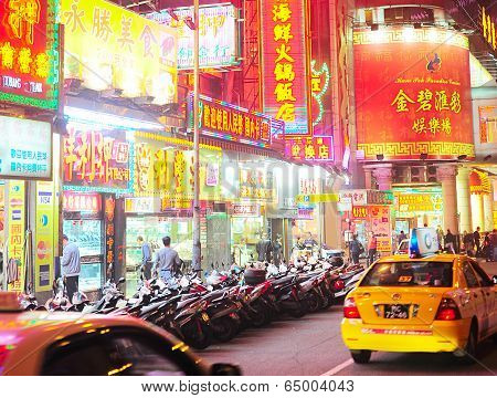 Macao Street At Night