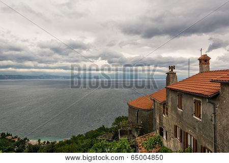 Mediterranean Houses With A View Of The Sea