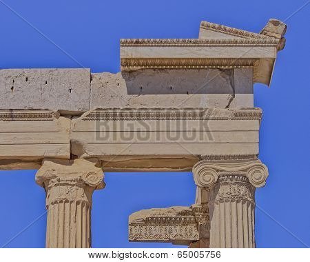 Erechtheion ancient  temple detail, Athens Greece