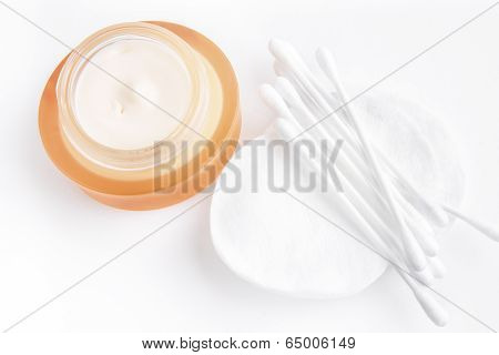 Closeup Cream And Cotton Wood Sticks