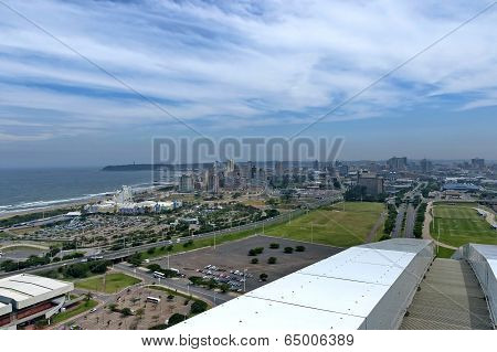 Seaside above view to Durban coas