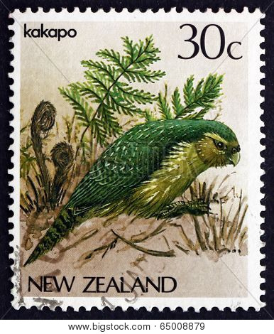 Postage Stamp New Zealand 1986 Kakapo, Owl Parrot