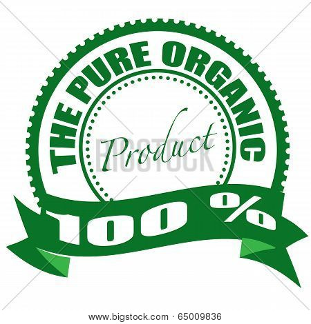 The Pure Organic Product Stamp
