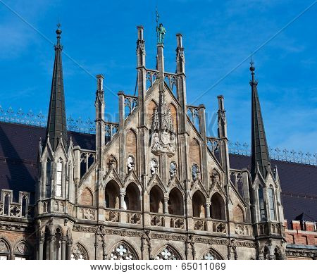 Munich, Gothic City Hall Facade Details