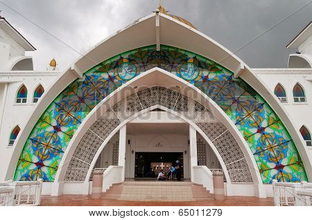 Entrance To Malacca Straits Mosque