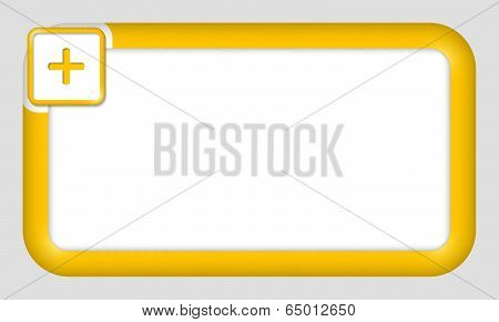 Vector Frame For Text Insertion With Plus Sign