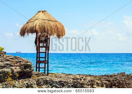 Lifeguard Hut On Mexican Coast