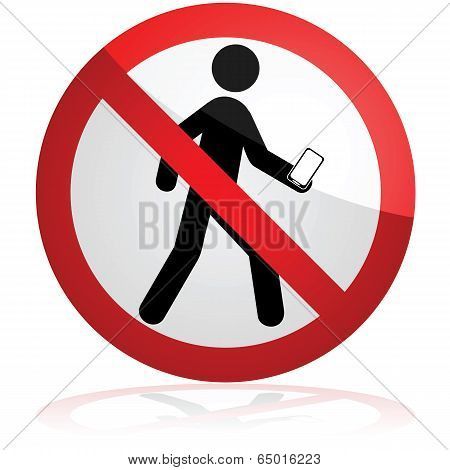 No Texting While Walking