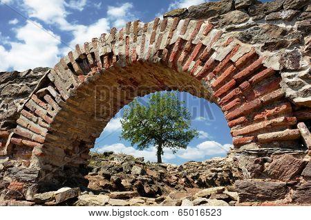 ruins Iustiniana Prima in Caricin Grad, Serbia