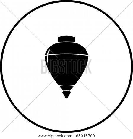 spinning top toy symbol