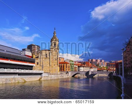 San Anton Church In Bilbao