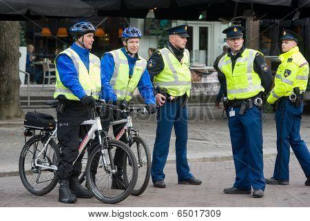 Policemen On Surveillance