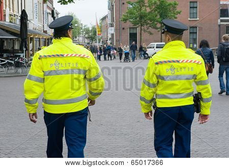 Policemen On Surveillance