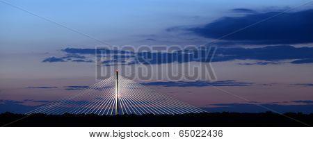 Panoramic Shot Of Bridge