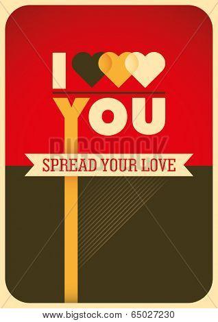 Modish love poster. Vector illustration.