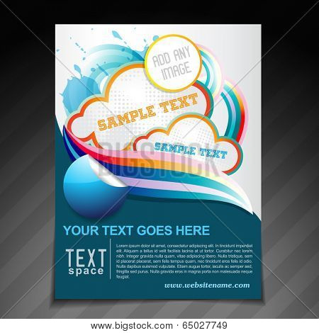 vector creative brochure flyer template illustration