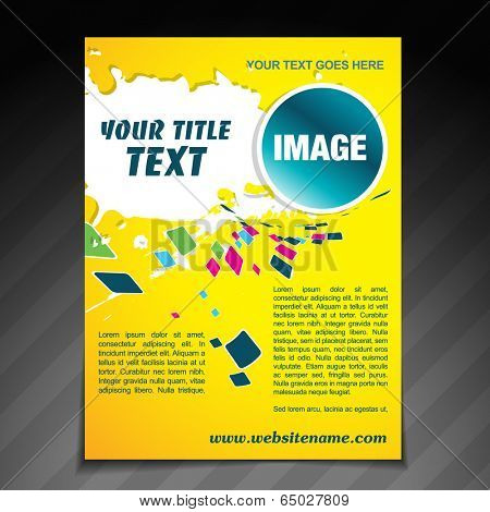 vector colorful mosaic brochure flyer template poster design