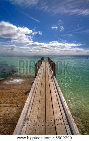 Small Pier At August Bay