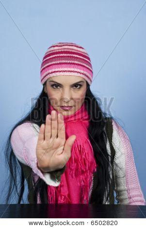 Stop Hand Gesture Woman