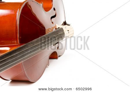 Cello, Isolated On White With Shadow