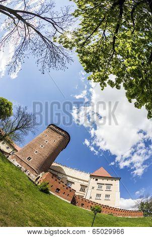 Wawel Castle On Sunny Day In Krakow