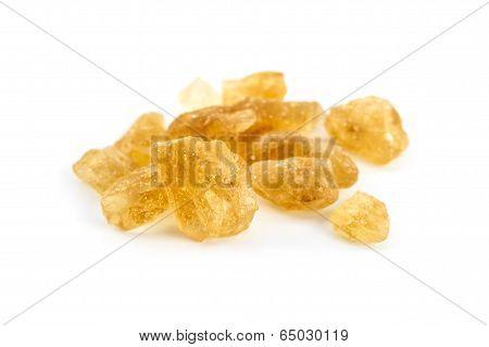 Rock Sugar Isolated On White Background
