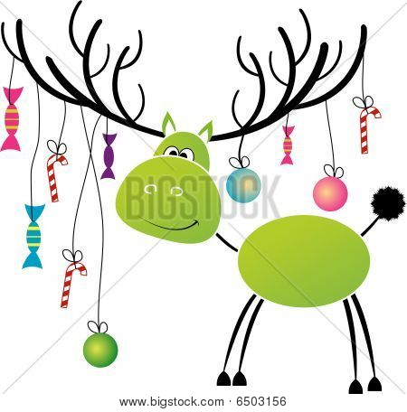 Christmas reindeer with gift for you