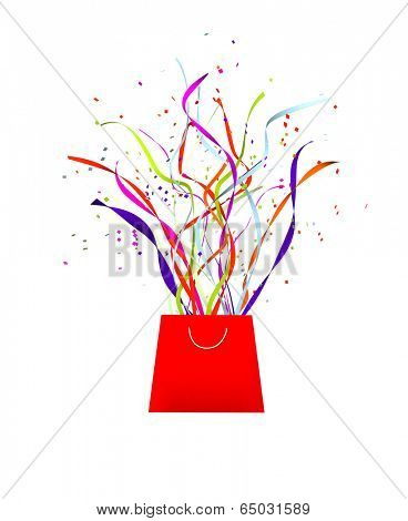 surprise celebration or gift concept isolated on a white background