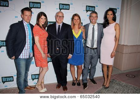 LOS ANGELES - MAY 1:  Richard Blais, Gail Simmons, Tom Colicchio, Brooke Williamson, Andy Cohen, Padma Lakshmi at the A Night With