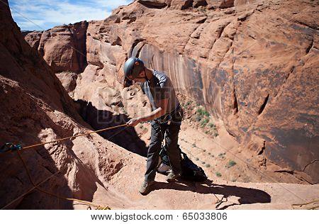 Desert Rappeling