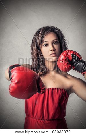 fighting woman