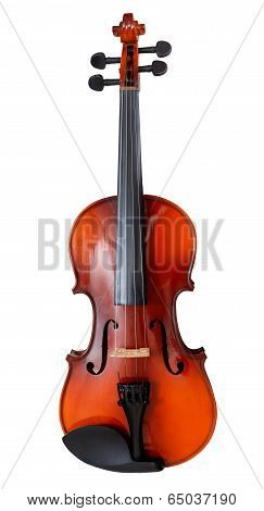 Classical Wooden Fiddle Isolated On White