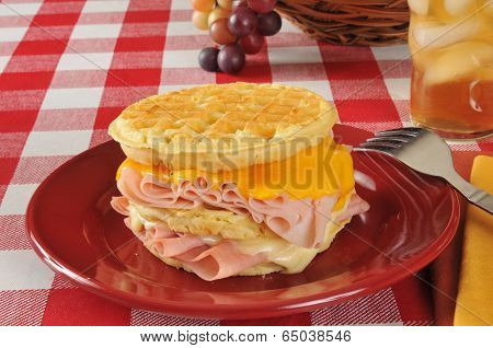 Monte Christo Sandwich On A Waffle