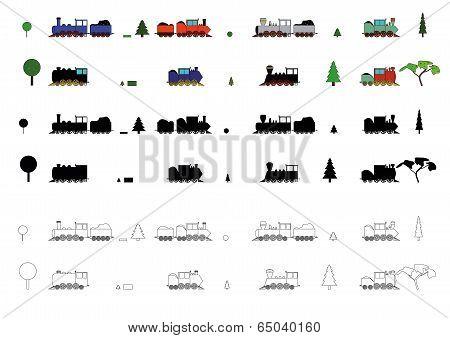 Toy train cartoon baby equipment