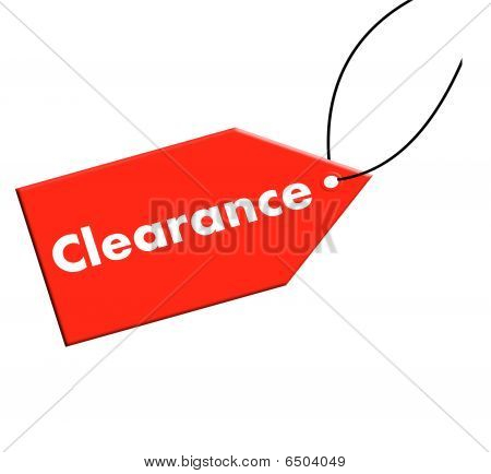 Clearance Tag Red
