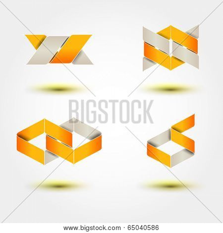 Business Design elements ( icon ) set for print and web. Vector.