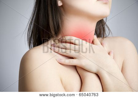 Sore Throat Of A Women