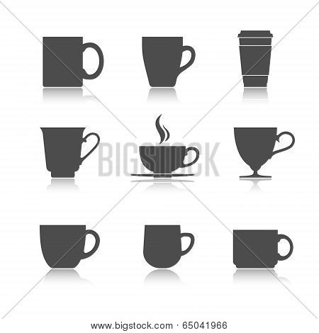 Vector tea cup set