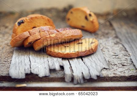 Rusks On Wooden Background