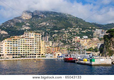 Port Of Fontvieille. Monaco