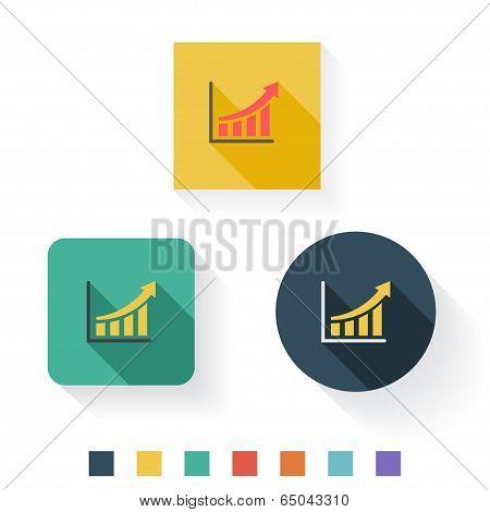 Graph Flat Icon Design